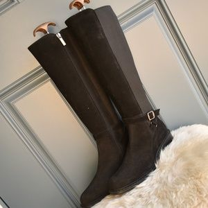 * Black Aquatalia Flore Waterproof Suede Boots